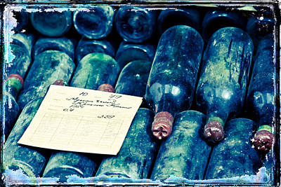 Old Bottles With Wine Print by Ivanna Laka