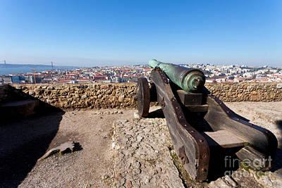 Gothic Photograph - Old Bronze Cannon by Jose Elias - Sofia Pereira