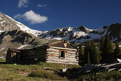 Old Cabin In Rocky Mountains Print by Michael J Bauer