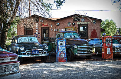 Gaz Photograph - Old Cars On Route 66 by RicardMN Photography