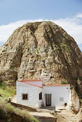 Old Cave Houses In Guadix Print by Ashley Cooper