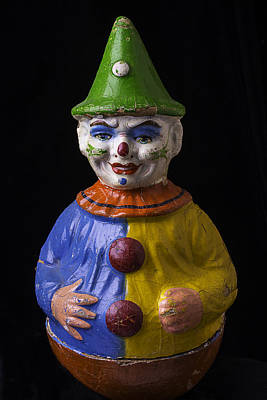 Clown Photograph - Old Clown Toy by Garry Gay