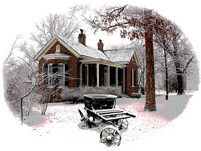 Old Country Home Original by John Lautermilch