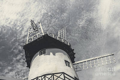 Old Mill Scenes Photograph - Old-fashioned Australian Windmill Architecture by Jorgo Photography - Wall Art Gallery