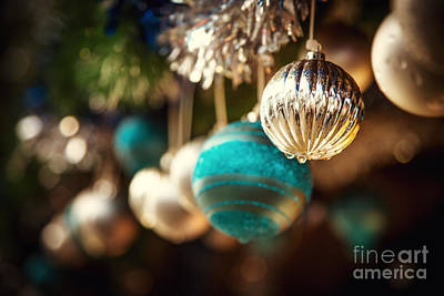 Merry -go- Round Photograph - Old Fashioned Christmas Decorations by Jane Rix