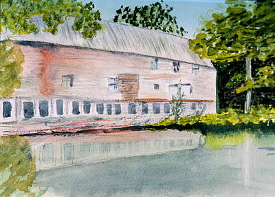 Old Mill In Barton Vt Print by Donna Walsh