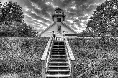 Old House Photograph - Old Mission Lighthouse by Twenty Two North Photography