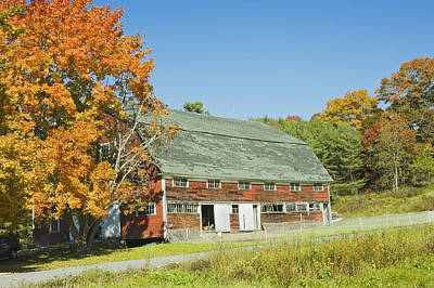 Old Red Barn In Maine Print by Keith Webber Jr