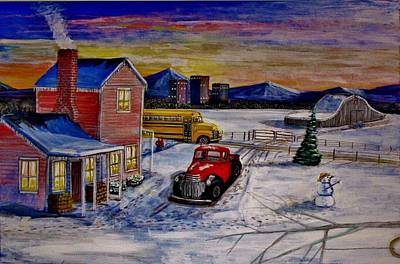 Old School Days. Print by Larry E Lamb