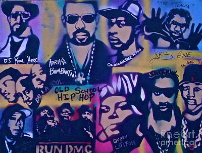 Liberal Painting - Old School Hip Hop 3 by Tony B Conscious