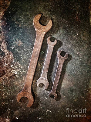 Old Objects Photograph - Old Spanners by Carlos Caetano