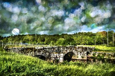 Old Stone Bridge Original by Toppart Sweden