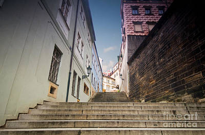 Road Photograph - Old Streets In Prague by Michal Bednarek