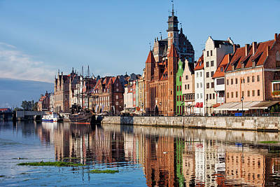 Danzig Photograph - Old Town Of Gdansk In Poland by Artur Bogacki