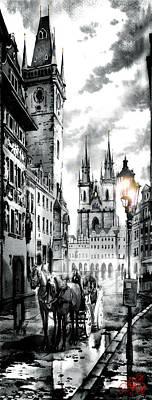 Prague Digital Art - Old Town Square by Dmitry Koptevskiy