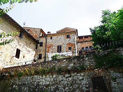 Vintage Style Photograph - Old Towns Of Tuscany San Gimignano Italy by Irina Sztukowski
