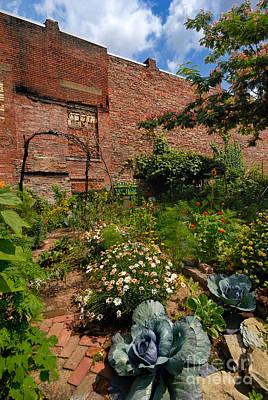 Olde Allegheny Community Gardens Print by Amy Cicconi