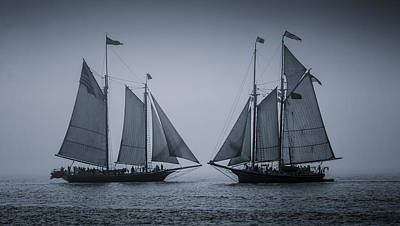 Windjammer Photograph - Oldest Schooners by Fred LeBlanc
