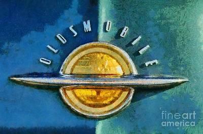 Badge Painting - 1951 Oldsmobile 98 Deluxe Holiday Sedan by George Atsametakis