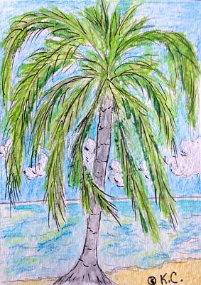 On The Beach Print by Kathy Marrs Chandler