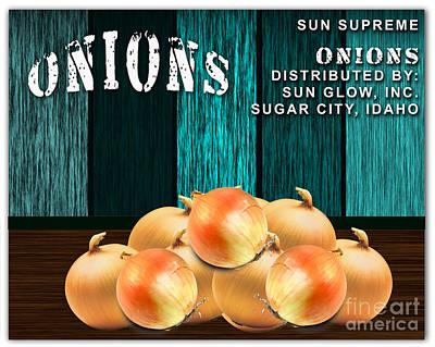 Onion Mixed Media - Onion Farm by Marvin Blaine