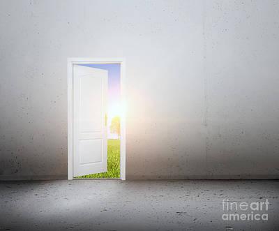 Dreams Photograph - Open Door To A New World by Michal Bednarek