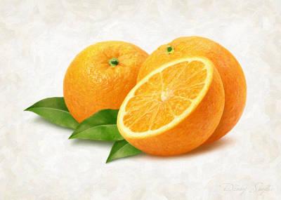 Oranges Print by Danny Smythe