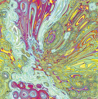 Organic Optical Illusion 2 Print by The Art of Marsha Charlebois