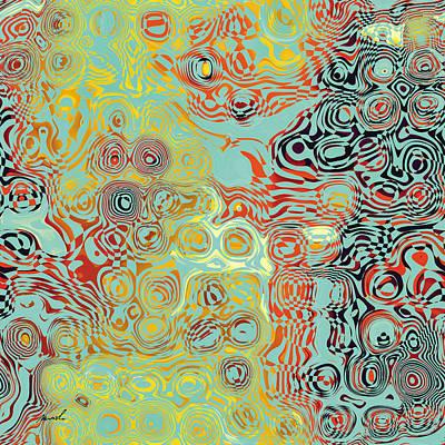 Organic Optical Illusion 5 Print by The Art of Marsha Charlebois