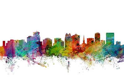 Orlando Digital Art - Orlando Florida Skyline by Michael Tompsett