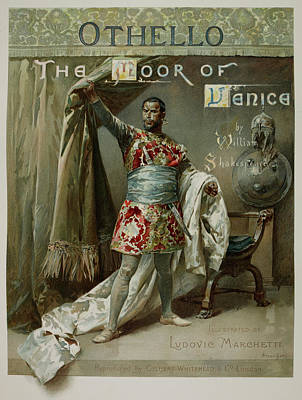 Personalities Photograph - Othello. The Moor Of Venice by British Library