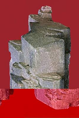 Othoclase Crystals Print by Science Photo Library