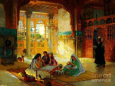 Rumi Painting - Ottoman Daily Life Scene by Frederick Arthur Bridgman