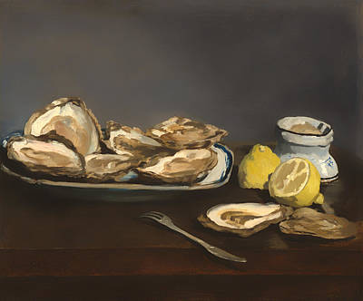 Meal Painting - Oysters by Mountain Dreams