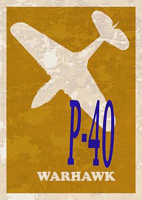 P51 Photograph - P-40 Warhawk by Mark Rogan