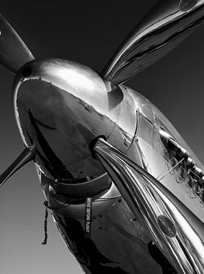 Black Photograph - P-51 Mustang by John Hamlon