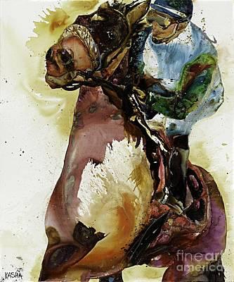 Splashy Art Painting - Pacesetter by Kasha Ritter