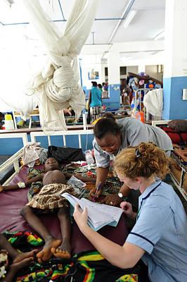 Paediatric Nursing In Sierra Leone Print by Matthew Oldfield
