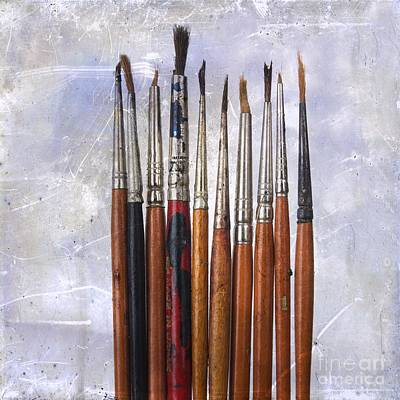 Of Artist Photograph - Paintbrushes by Bernard Jaubert