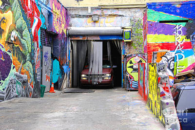5 Pointz Photograph - Painted Car Wash by Andrea Simon