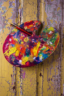 Palette Photograph - Painters Palette by Garry Gay