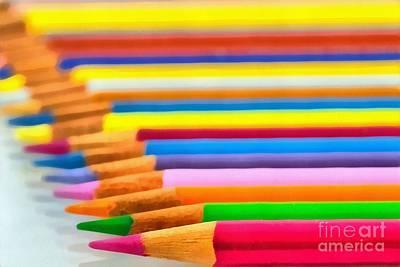 Pencil Painting - Painting Of Pencils by George Atsametakis