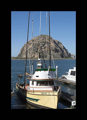 Seascape Digital Painting - Painting The Trudy S Morro Bay by Barbara Snyder