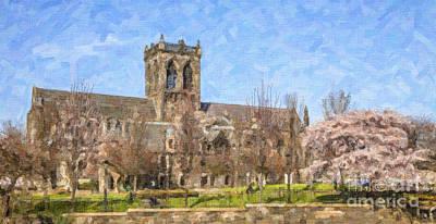 Paisley Abbey Print by Liz Leyden