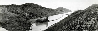 Panama Canal Construction, 1910 Print by Photo Researchers