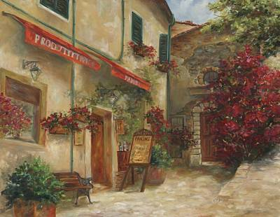 Courtyard Painting - Panini Cafe' by Chris Brandley