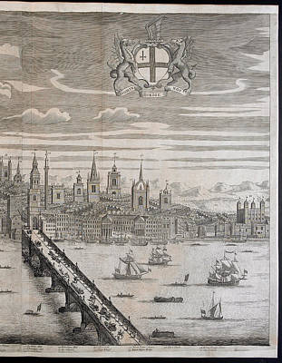 Panorama Of London Print by British Library