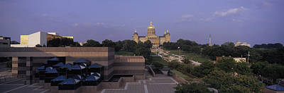 Capitol Building Photograph - Panoramic View Of Iowa State Capitol by Panoramic Images