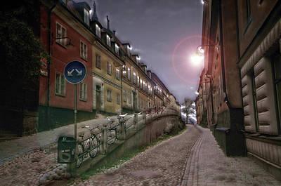 Sweden Digital Art - Paper Route by David Fox