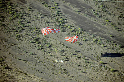 Spacecraft Photograph - Parachute Test For Orion Spacecraft by Nasa